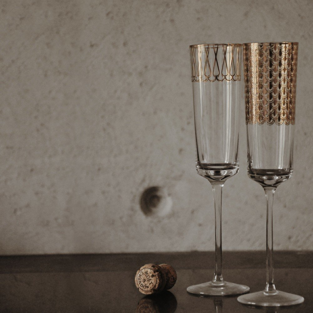 Pair of Champagne Glasses First Gold 01 by M. Młoczkowski, VOLA - 498511 - photo