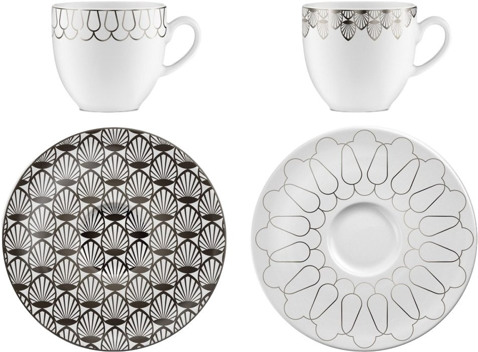 First Platin 01 Pair of Cups with Saucers by M. Młoczkowski, VOLA - 498587 - photo