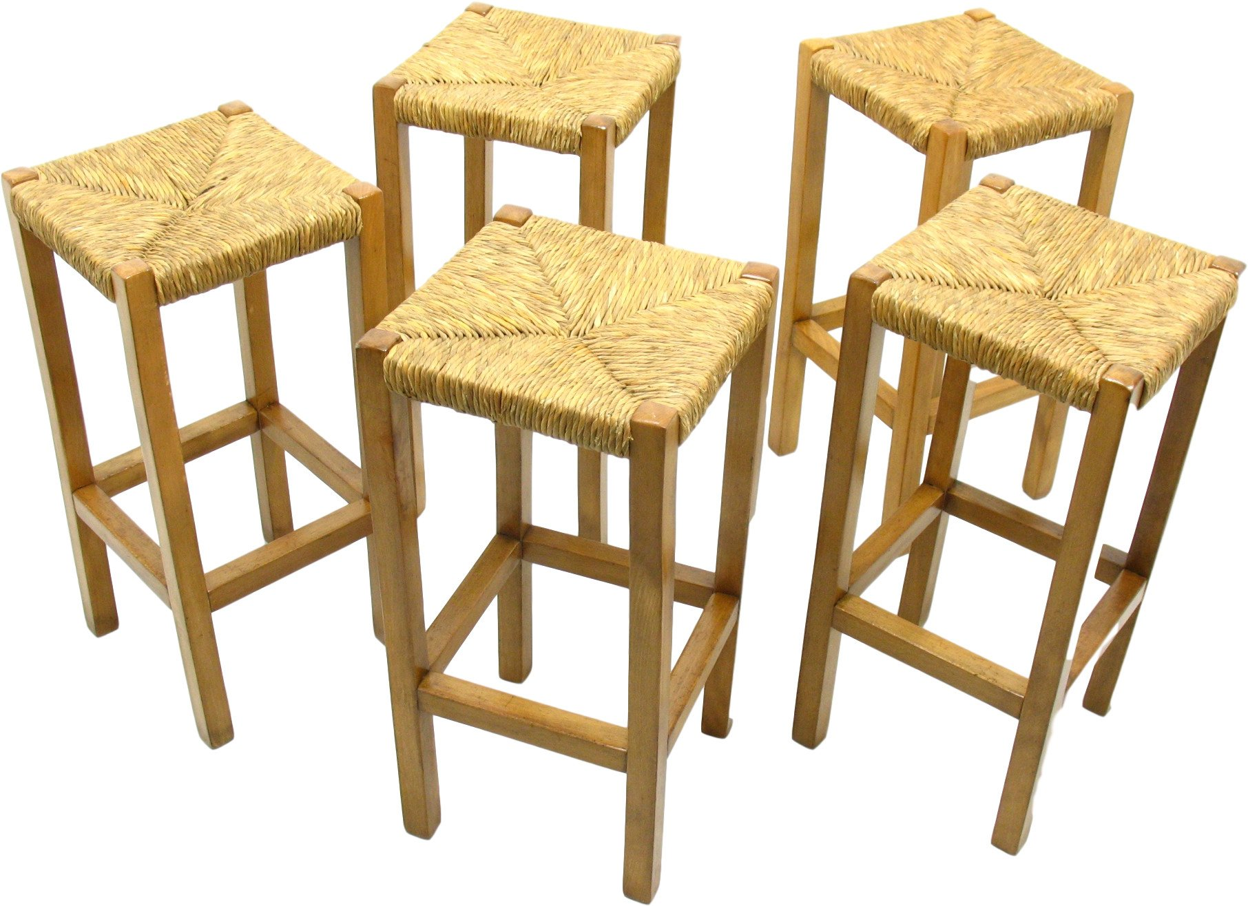Set of Five Bar Stools, 1980s