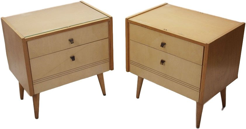 Pair of Nightstands, Poland, 1960s