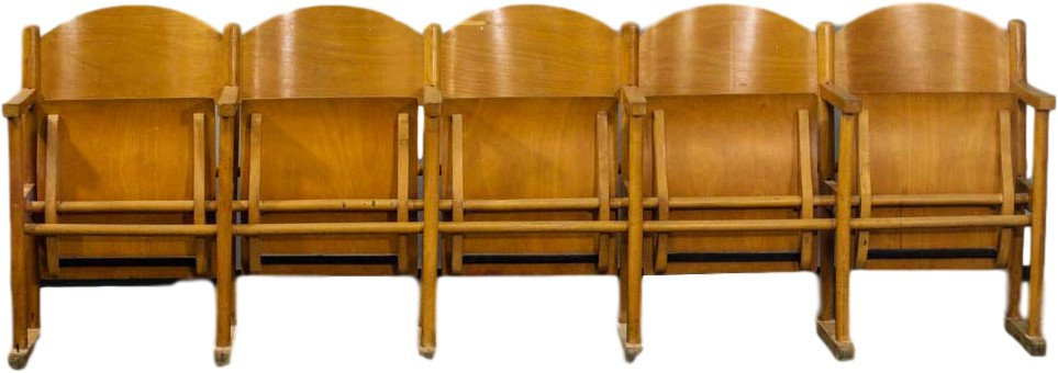 Set of Five Cinema Chairs, Poland, 1960s