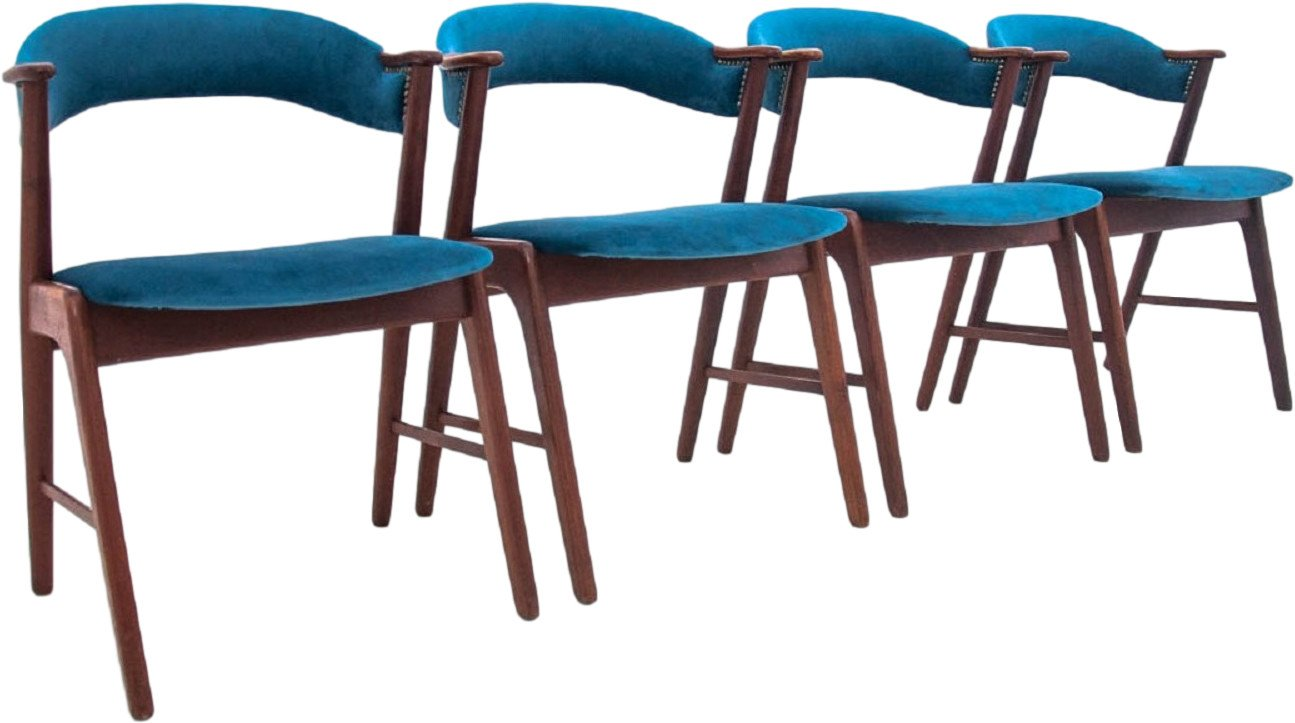 Set of Four Chairs, Denmark, 1960s