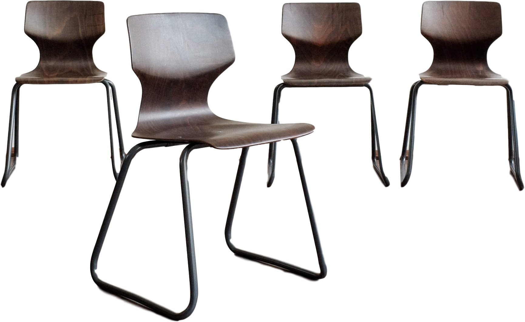 Set of Four Chairs by E. Flototto for Flototto, Germany, 1970s