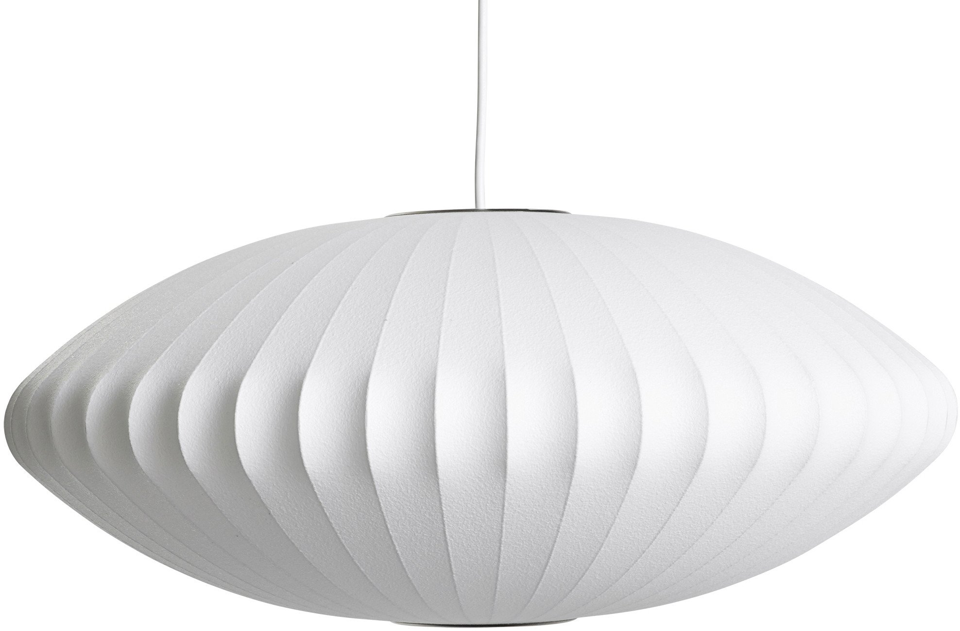 Nelson Saucer Pendant Lamp M Off White by G. Nelson for HAY