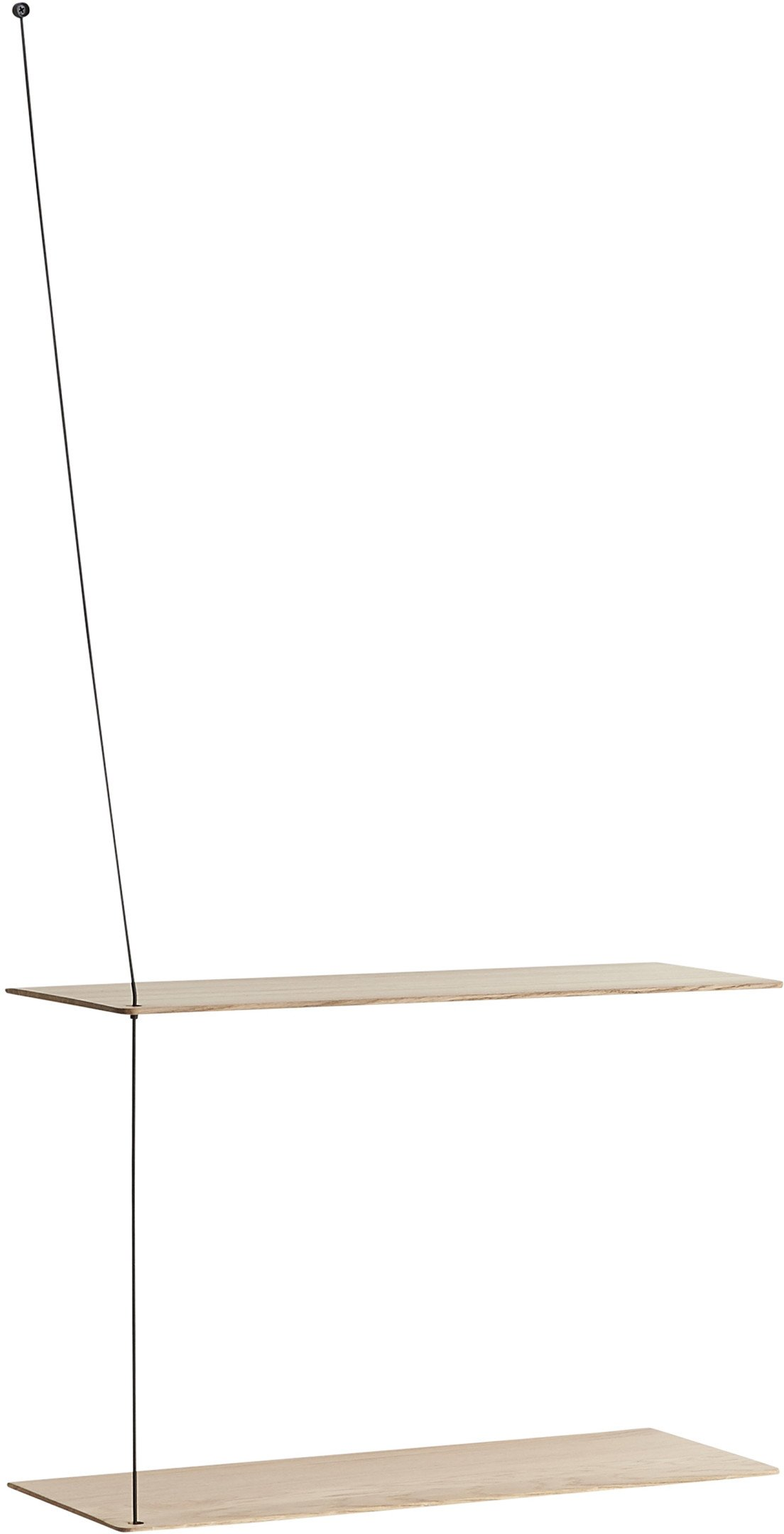 Stedge Shelf 60 cm Light Oak by L. Aldenhoff for WOUD