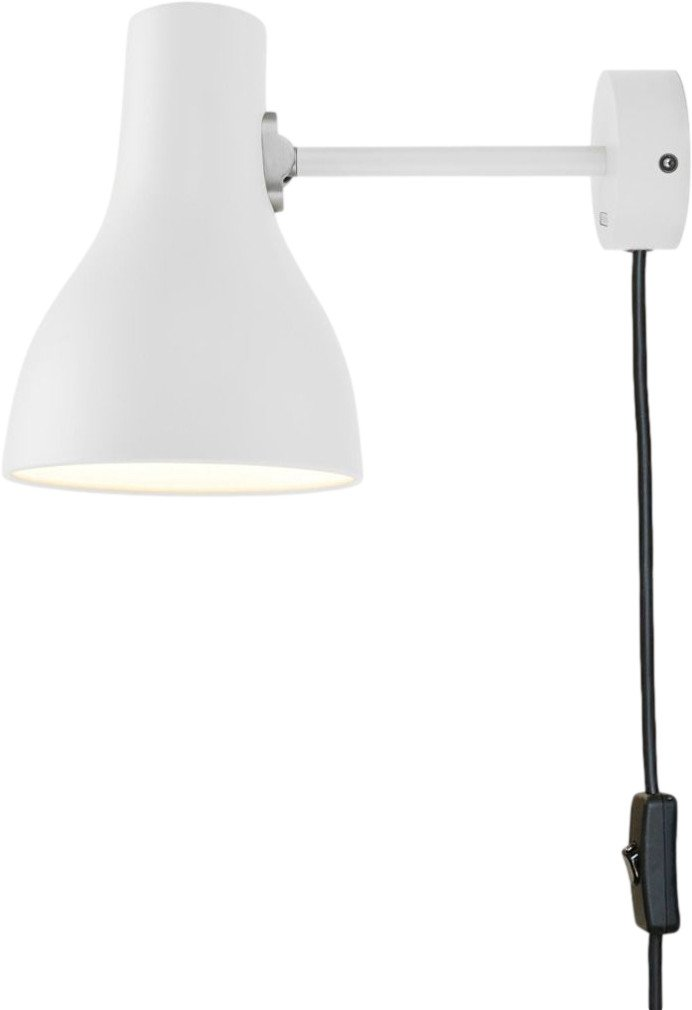 Type 75 Wall Light with Cable Alpine White by K. Grange for Anglepoise