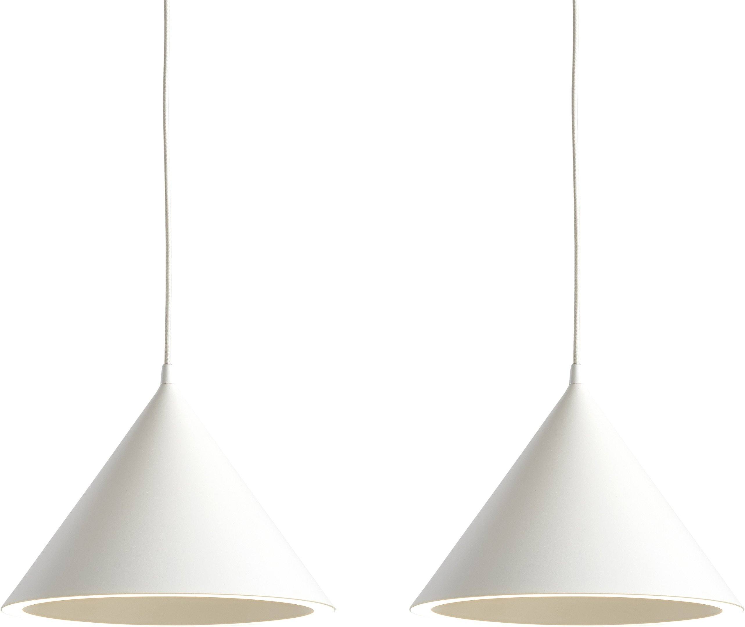 Pair of Annular Pendant Lamps S White by M-S-D-S for WOUD