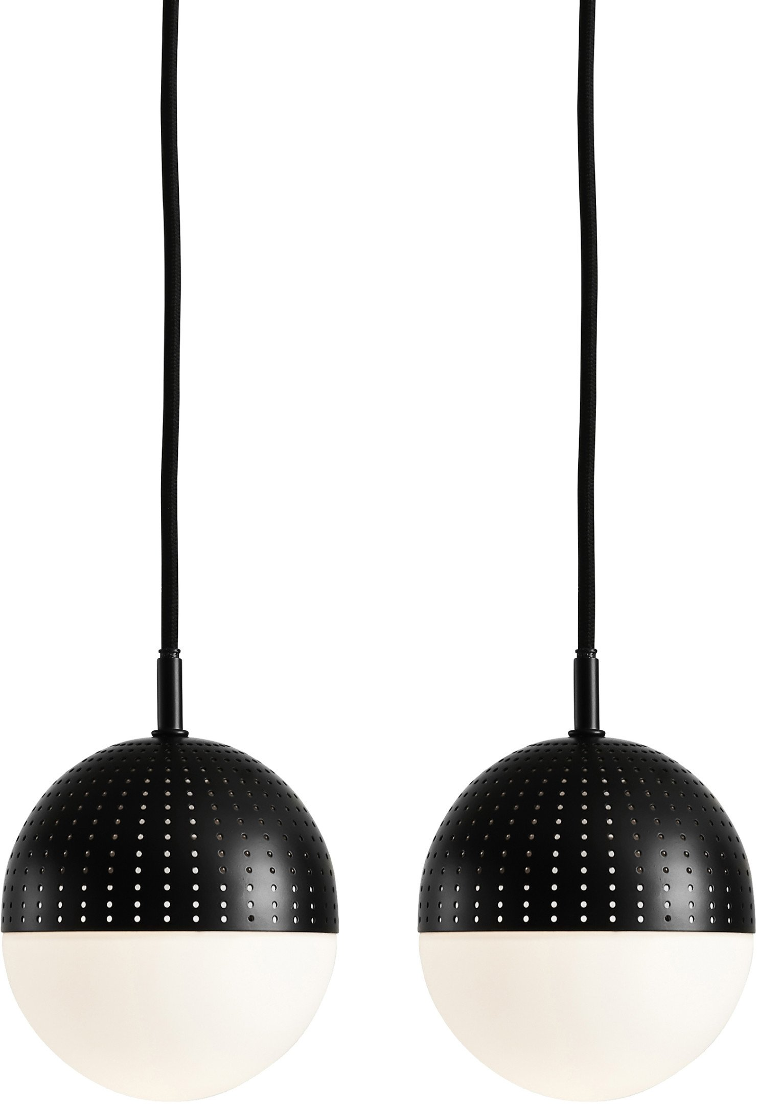 Pair of Dot Pendant Lamps S Black by R. Frost for WOUD