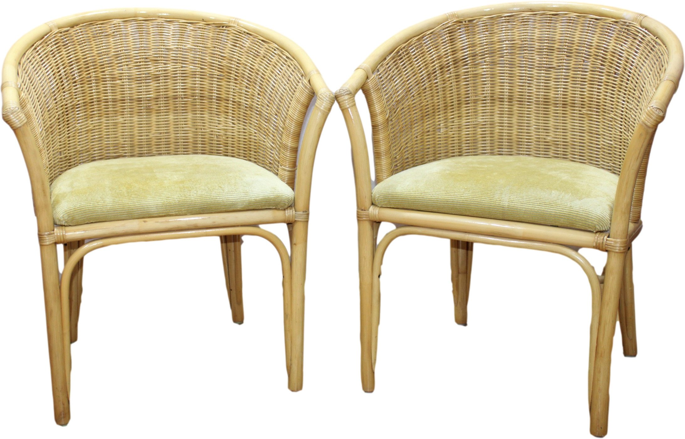 Pair of Armchairs, Roberti Rattan, Italy