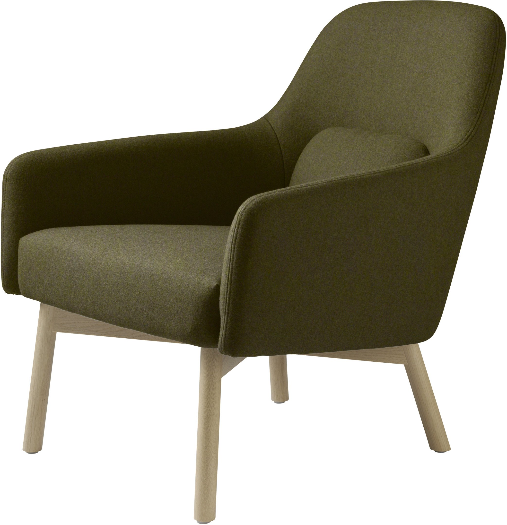 L33 Gesja Armchair Green by J. Foersom & P. Hiort-Lorenzen for FDB Møbler - 504038 - photo