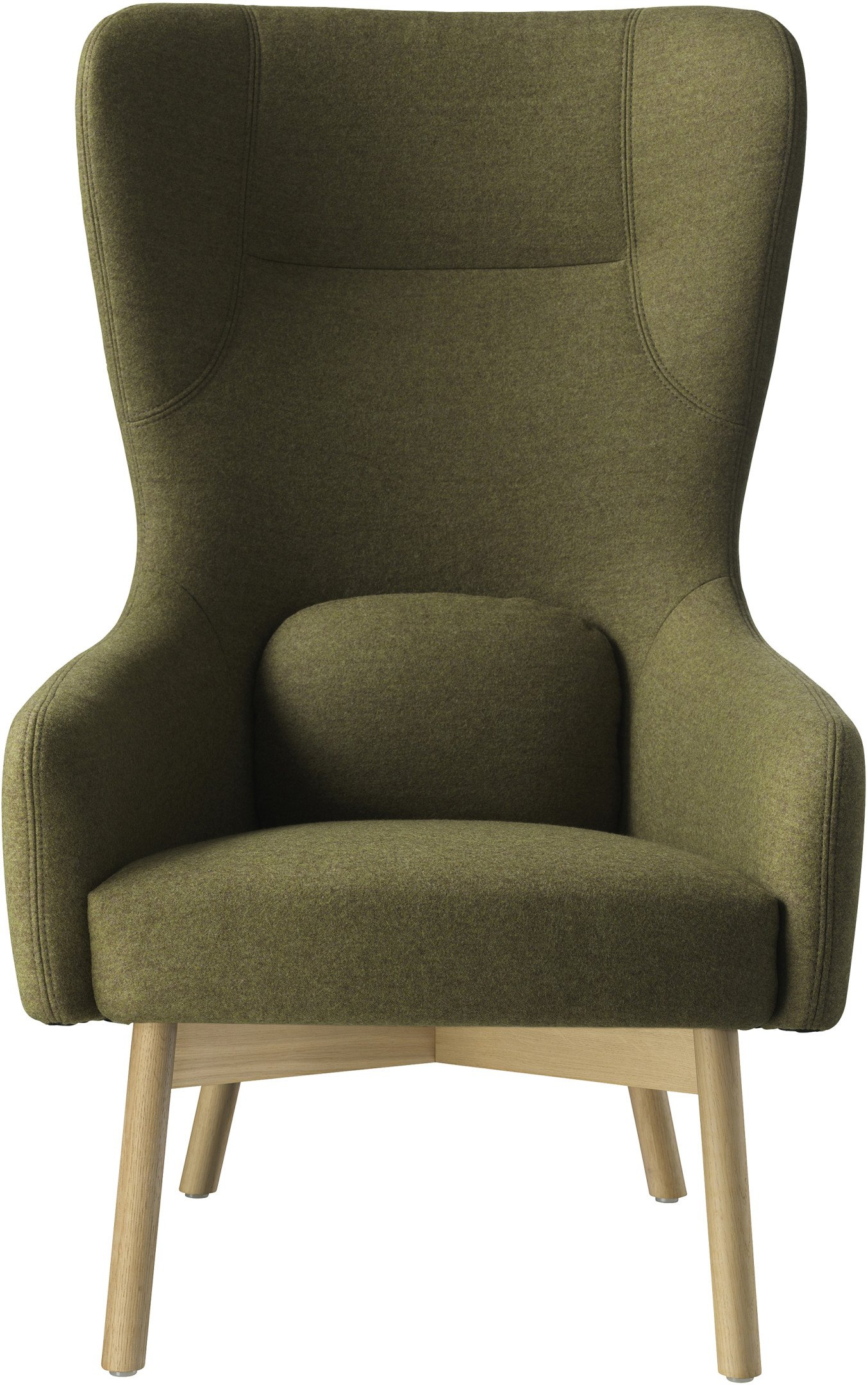 L35 Gesja Wing Chair Green by J. Foersom & P. Hiort-Lorenzen for FDB Møbler - 504050 - photo