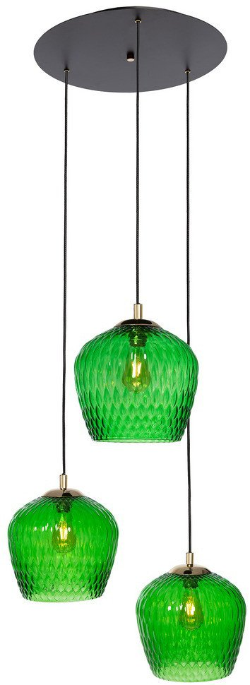 Pendant Lamp Venus Plafond 3 Green, Kaspa - 504066 - photo