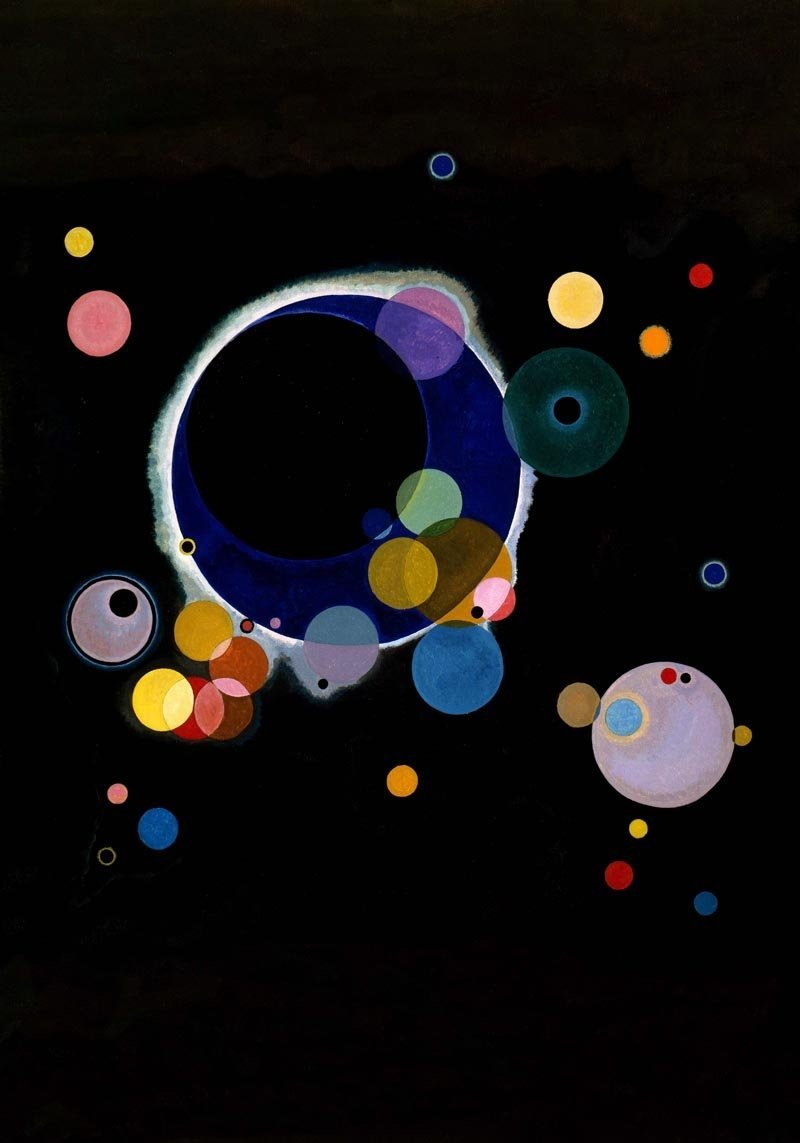 Several Circles Poster 42x60 by W. Kandinsky - 505108 - photo