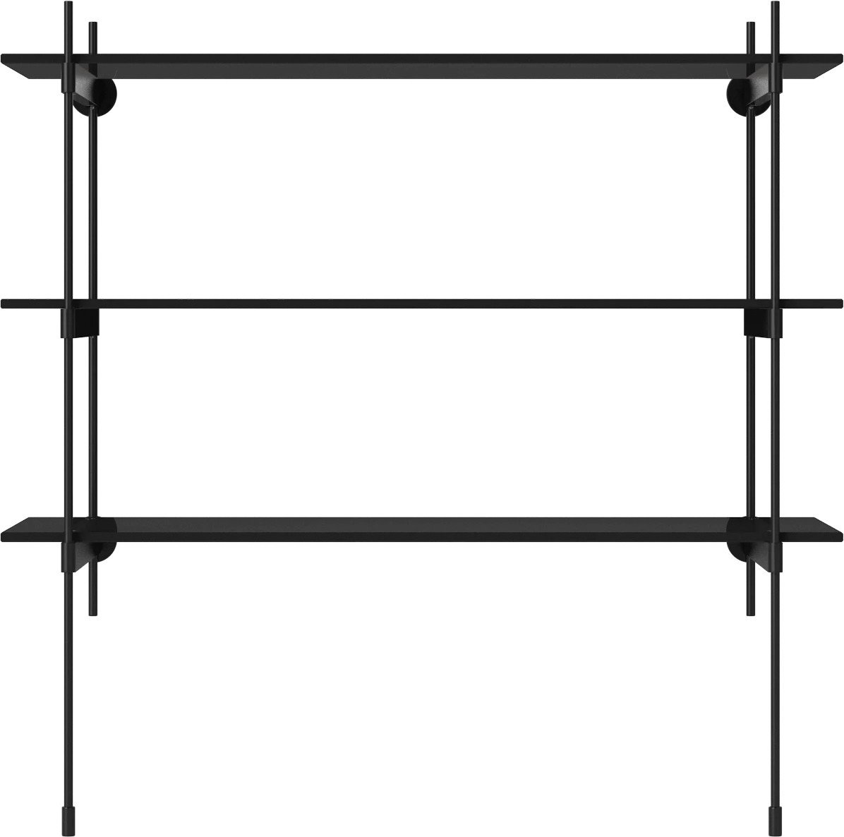 ROD Shelf Combination 14 Black Steel and Glass by Kaschkasch for Bolia - 511721 - photo