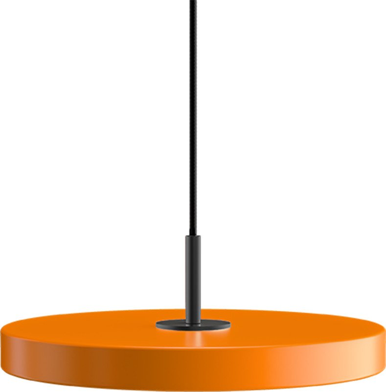 Pendant Lamp Asteria Mini Orange and Black by S. R. Christensen for UMAGE