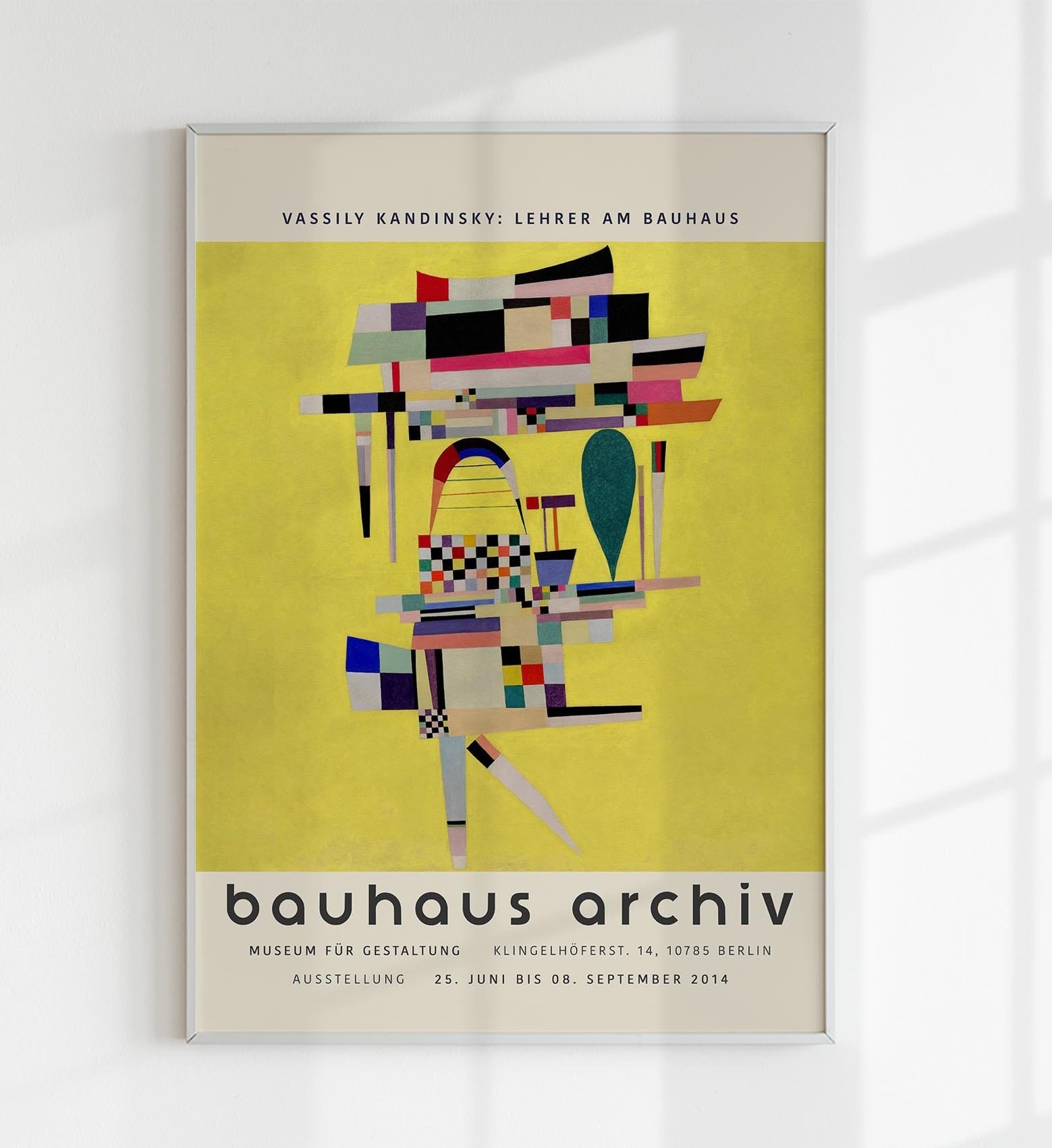Yellow Painting Poster 42x60 by W. Kandinsky - 514403 - photo