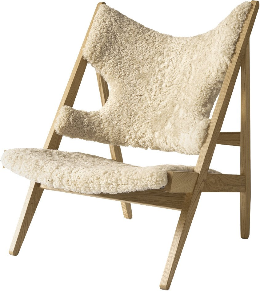 Knitting Lounge Chair Natural Oak & Sheepskin by Ib Kofod-Larsen Design, Menu - 514694 - photo
