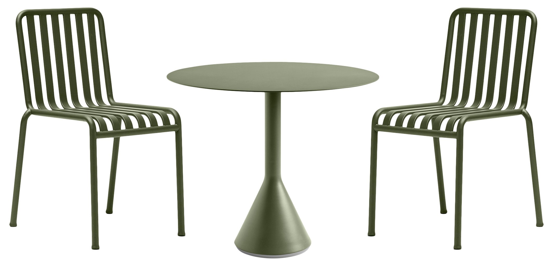 Set of Garden Furniture Palissade Table and 2 Chairs by R. &. E. Bouroullec for HAY - 515635 - photo