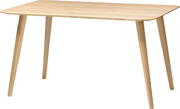Malmö 706 Dining Table 140x90 cm Oiled Oak, TON